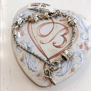 NWT Brighton Lucky 🍀 Me Bracelet w 2 Charms